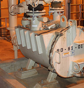 Heat exchanger for wastewater plant